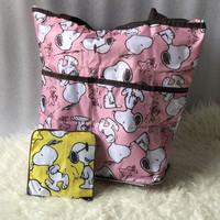 Tas Belanja Resleting Lipat / Shopping Bag/ Baggu Bag / Eco Bag Snoopy