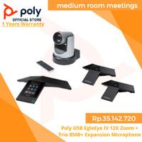 Poly USB EgleEye lV 12X Zoom + Trio 8500 + Expansion Microphone