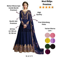 Floline Ols - Maxi Shilpa / Baju Gamis/ Baju India/Maxi Fashion Wanita