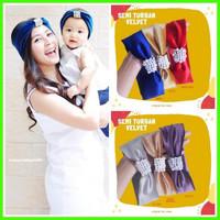 headband bandana bando turban bayi anak dewasa couple mom and baby