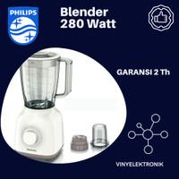 BLENDER PHILIPS HR 2106 / HR2106 GLASS - PUTIH Low Watt