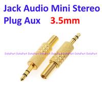 Jack Audio Mini Stereo 3.5mm Plug Aux 3.5 mm 3 Pole Warna Gold