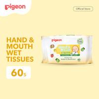 PIGEON Hand and Mouth Wet Tissue - 60 Sheets | Tisu Basah Bayi