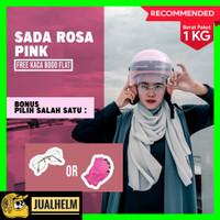 Helm Retro Bogo Wanita Cewe Cewek SADA ROSA Pink Pastel