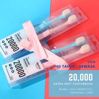 Sikat Gigi 1 box 2 pcs Dewasa Gigi Sensitive Blue Pink 20.000 bulusoft
