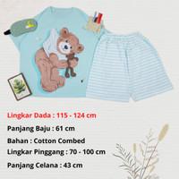 Setelan Celana Pendek Piyama Import BigSize Baju Tidur Jumbo Bear Doll