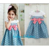 Baju Anak Perempuan Wanita Dress Cewek Gaun Cewe Girl Usia 2-4 Tahun
