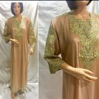 Kaftan Bordir Payet, Baju Muslim Gamis Kaftan Fashion Wanita