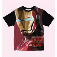 Baju Kaos Anak Laki-Laki Dan Perempuan Iron Man