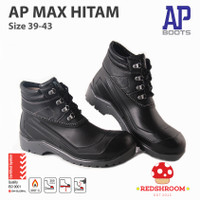Sepatu Boot SAFETY AP BOOTS AP MAX HITAM KONTRUKSI PROYEK SIZE 39-43