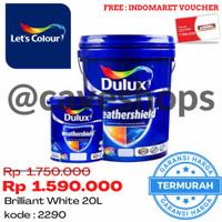DULUX WEATHERSHIELD BRILLIANT WHITE 2290 20L / Cat Tembok 20 L