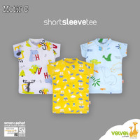 Kaos Oblong Velvet Junior grosir 3 size L baju rumah anak bayi