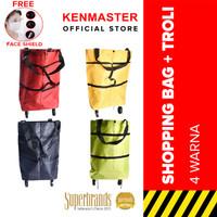 Tas Belanja Lipat Roda Serbaguna NM-107 / Trolly Shopping Bag - Warna