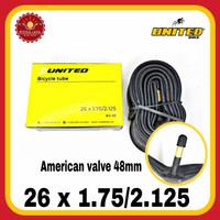 UNITED 26 x 1.75/2.125 AV 48mm Ban Dalam Sepeda