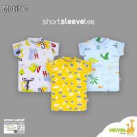 Kaos Oblong Velvet Junior grosir 3 size M baju rumah anak bayi