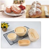 Cetakan kue adonan keranjang rotan banneton fermentasi roti bulat oval