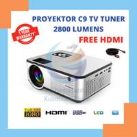 Proyektor Cheerlux C9 2800 lumens tv | Cheerlux C9 Tv Tuner - C9 Tv Tuner