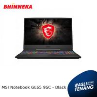 MSI Notebook GL65 9SC Intel Core i7 8GB/512B Win 10 Home ORI - Black