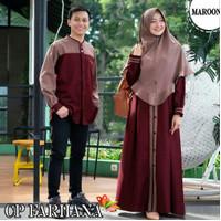baju couple lebaran pasangan muslim terbaru 2021/couple syar'i muslim