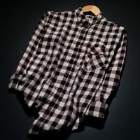 Kemeja Pria Lengan Panjang Baju Cowok Motif Kotak Kemeja Flanel distro