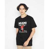 Kaos Pria Erigo T-Shirt Miami Heat Cotton Combed Black - S
