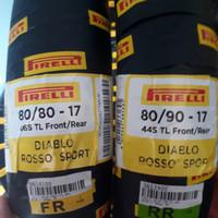 PAKET BAN PIRELLI DIABLO ROSSO SPORT 80/80 & 80/90 RING 17