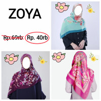Kerudung Scarf segi empat by Zoya Hijab jilbab
