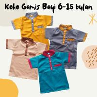 Baju Muslim Anak Bayi Laki Koko Gamis Katun Toyobo 6-15bulan