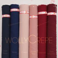 HijabersTex 1/2 Meter Kain WOLLYCREPE CALTRI Premium (Part 1)