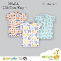 Kaos Oblong Velvet Junior grosir 3 size M baju rumah anak bayi - Motif A