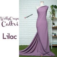 HijabersTex 1/2 Meter Kain WOLLYCREPE CALTRI Lilac