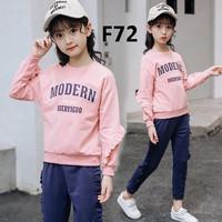 BAF72 Baju Setelan Anak Perempuan Impor 6-10 tahun