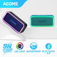 ACOME Bluetooth Speaker TWS 5W RGB LED Party IPX5 Waterproof A6
