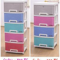 Container Drawer Napolly Susun 4 / Lemari Pakaian / Lemari Plastik
