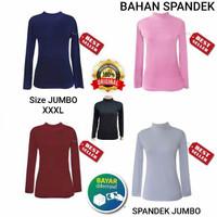 Manset Jumbo Atasan Dalaman / Kaos Manset Jumbo / Baju Manset Jumbo - Pink