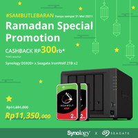 Bundling Synology DS920+ & Seagate Ironwolf 2TB X 2 Unit Storage Cloud