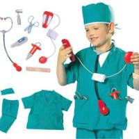 mainan kostum anak baju profesi Baju Dokter surgeon bedah