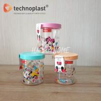 TECHNOPLAST MINNIE & KITTY CANISTER / TOPLES PLASTIK ARCYLIC 1000ML