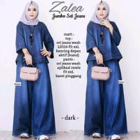 Zalea Set Jumbo // setelan atasan blouse dan kulot rawis