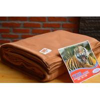 Selimut Hotel Polos Tiger Cokelat Muda 160x200 Bahan Polar Halus