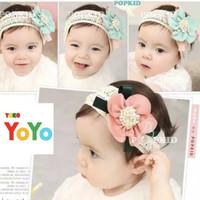 Bandana Bayi Bunga Besar / Bandana Rajut Bayi Korea / Baby Headband