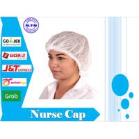 Hairnet Mob Cap Hair cap Disposable Nurse Cap Medis 1 Box isi 100 pcs