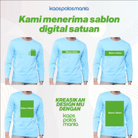 Sablon Custom Satuan Bebas Desain Kaos KPM Apparel Long Sleeves Dewasa
