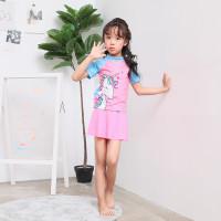 Baju Renang Anak Perempuan Cewek Motif UNICORN Model Setelan 2 Pieces