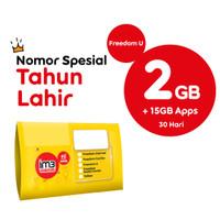 KARTU PERDANA NOMOR SPESIAL TAHUN LAHIR FREEDOM U 2GB APPS 30 HARI