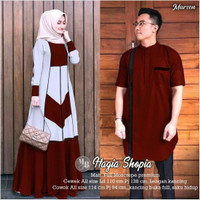 Baju Gamis Wanita Muslim COUPLE ELFA 72 Gamis Kagumi Koko Size M L XL