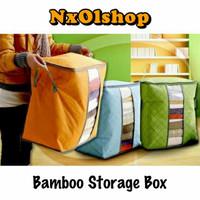 Bamboo Storage Box Tinggi Tempat Penyimpanan Baju Tas Penyimpanan