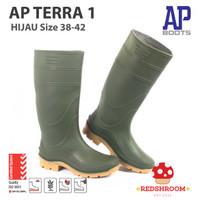Sepatu Boot Tinggi AP BOOTS AP TERRA 1 HIJAU KONTRUKSI PERKEBUNAN - 38