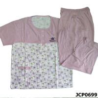 Baju Tidur Setelan Jumbo Tangan Pendek Celana Panjang