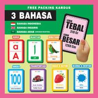 Flashcard TERMURAH Kartu Belajar Pintar Flash Card Bayi Anak